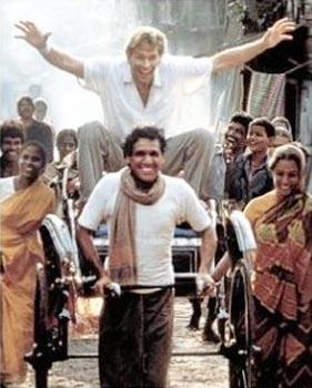 When Om Puri carried Patrick Swayze around town: City of Joy (1992)