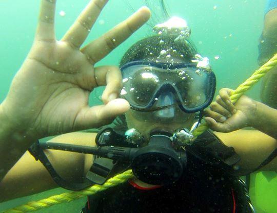 First Dive in Goa