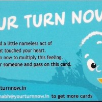 Your Turn Now: One Man's Mission To Create A Global Chain Of Kindness