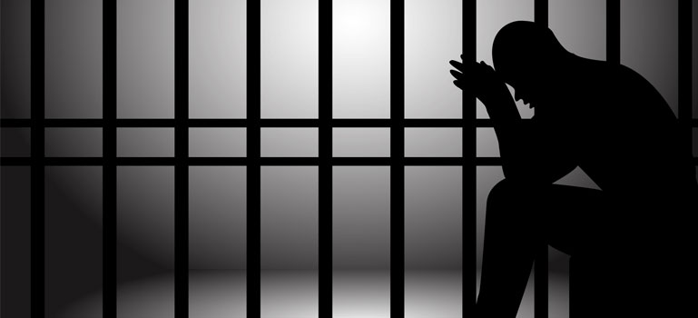 Prisoner alone