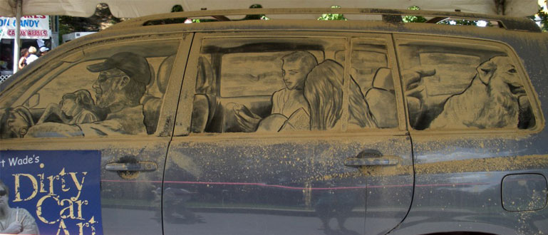 dust and dirty car art