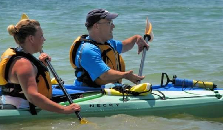 kayaking the kayak