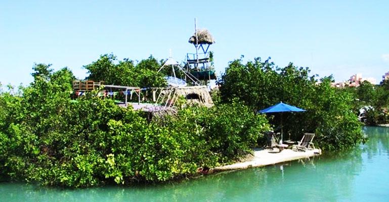 spiral floating island