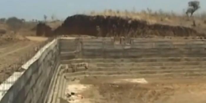 farmer dam under construction