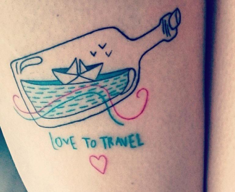 travel ship tattoos