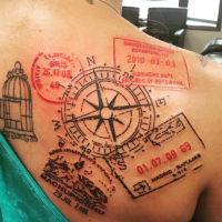 13 Beautiful Travel Inspired Tattoos That Will Give You Instant Wanderlust