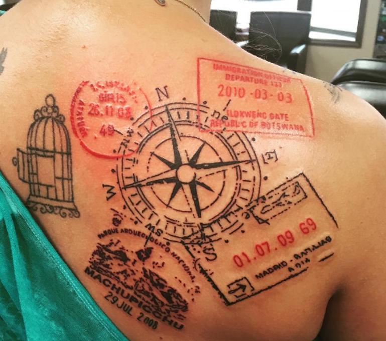 visa stamp tattoos