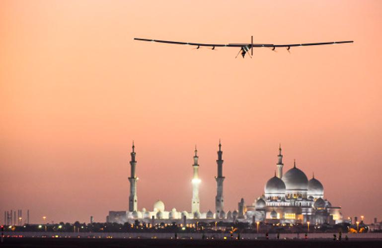 solar impulse taking off