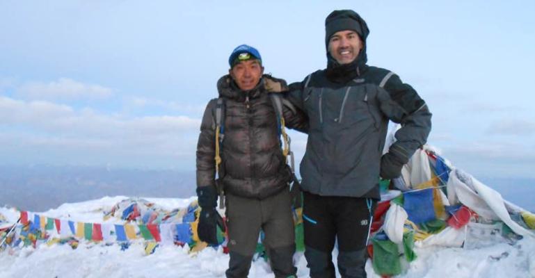 Vikas Dimri with Mingma Sherpa @ Stok Kangri