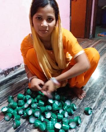 empowered woman nisha upcycling act