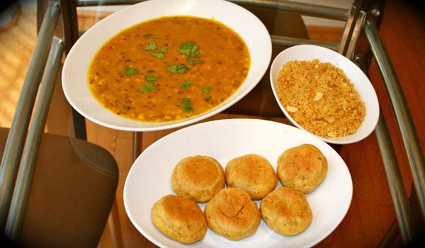 dal bati choorma, must eat indian food