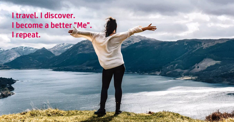 I travel to discover a better me