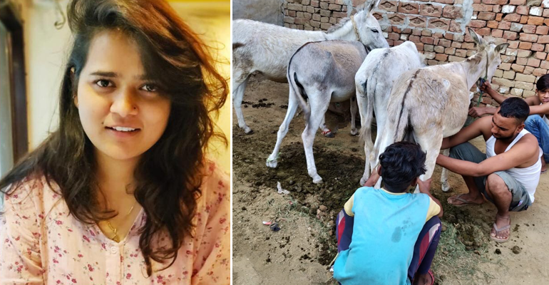 With Rs.2000 A Liter, Donkey Owners Are Milking To A Better Life, Thanks To An Idea Of This 24-YO