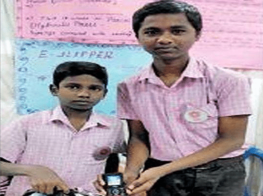 Class 9 Students Invent E-Slippers To Prevent Accidents On Unlit Roads In Villages