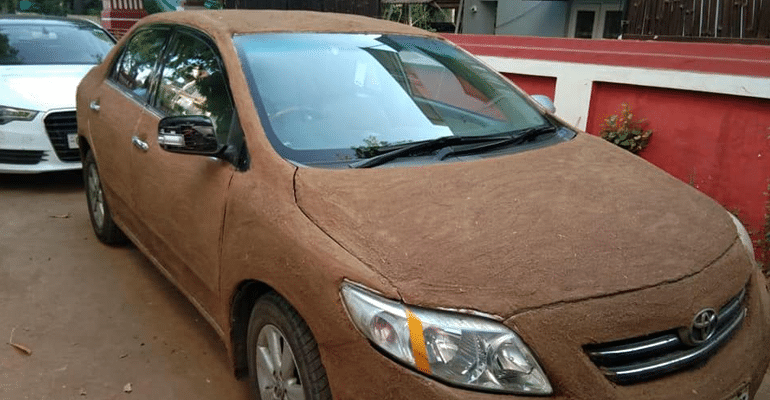 A Desi Cow Dung Hack To Keep Your Car Cool In The Summers! Want To Give It A Shot?