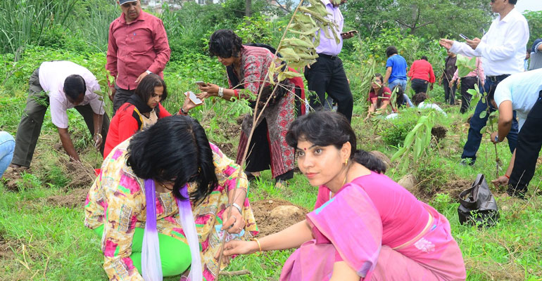 Within Just 10 Minutes, 35000 Families Planted 2.1 Lakh Trees In Dehradun