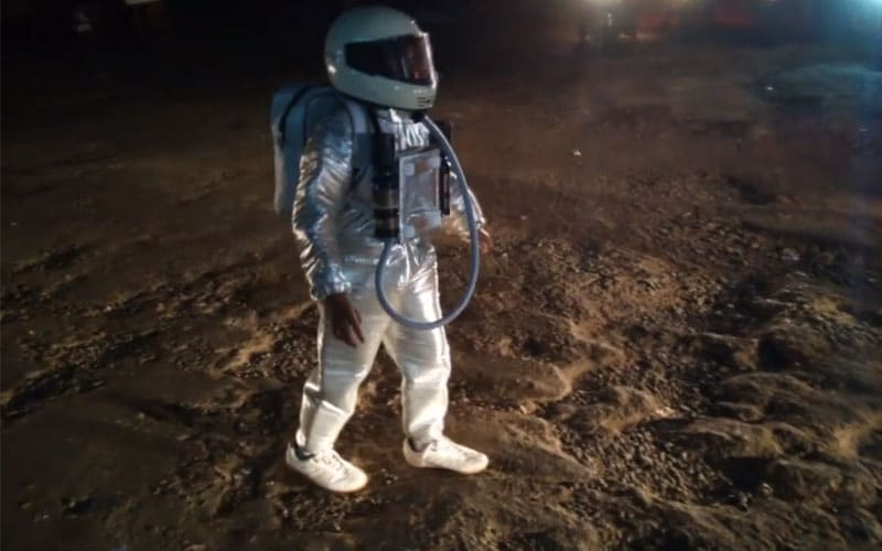 Astronaut Is Moonwalking On Mangaluru Streets