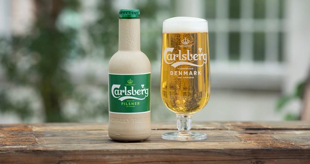 Carlsberg green fiber bottle prototype